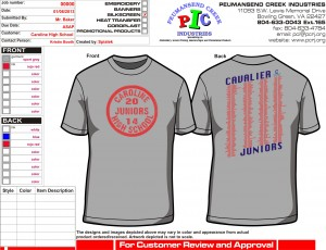 Caroline HS Juniors GRAY T