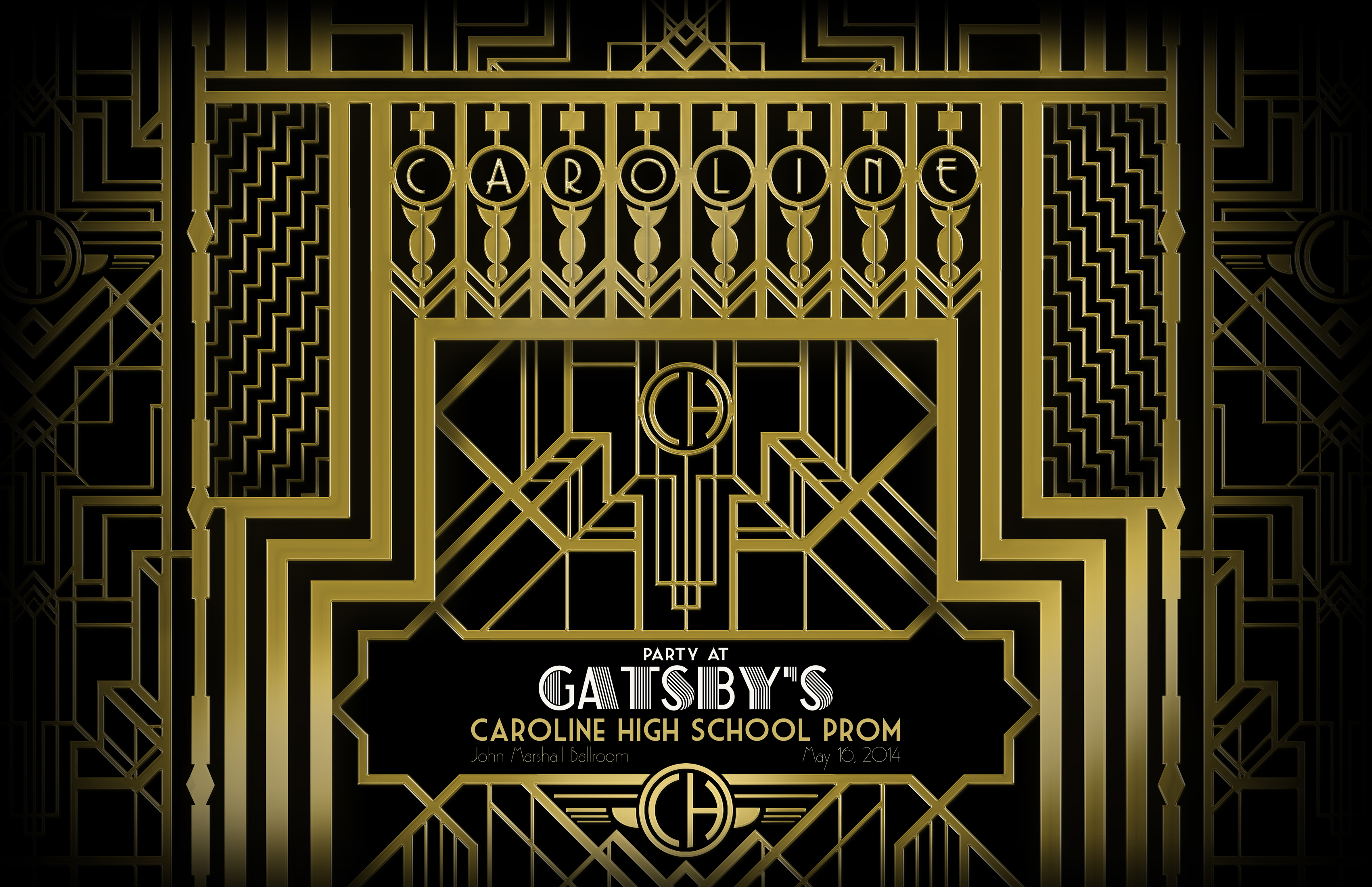 Great gatsby poster template